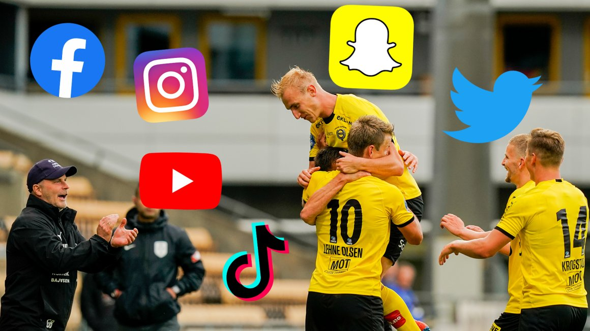 Følg oss og våre spillere på sosiale medier!