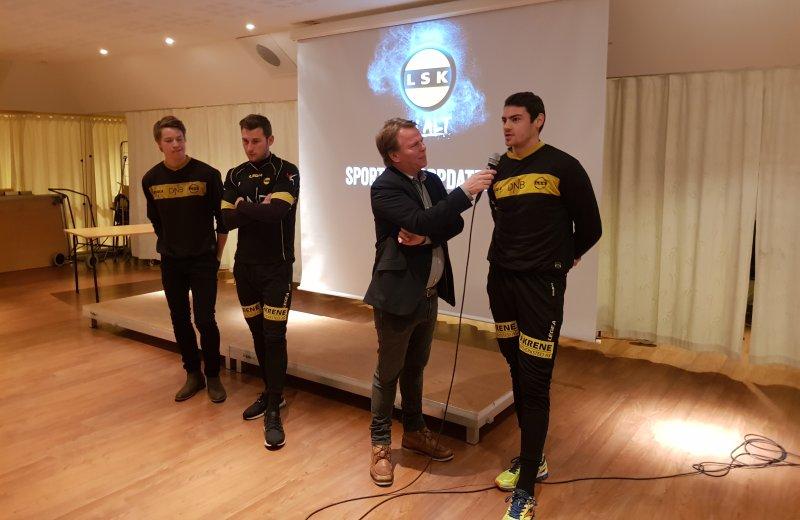 Kristoffer Ødemarksbakken, Gary Martin og Matvei Igonen ble presentert for sponsorene