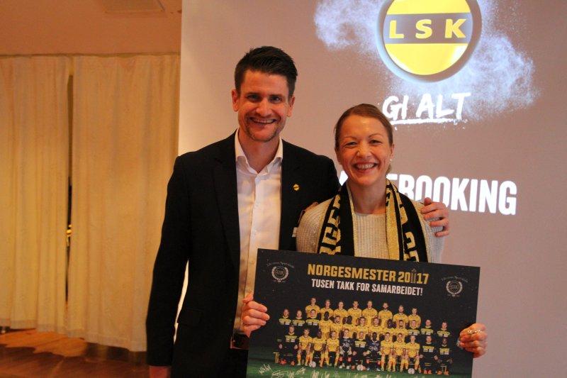 Jane Horpestad fra SATS Elixia fikk premien for å ha booket flest møter
