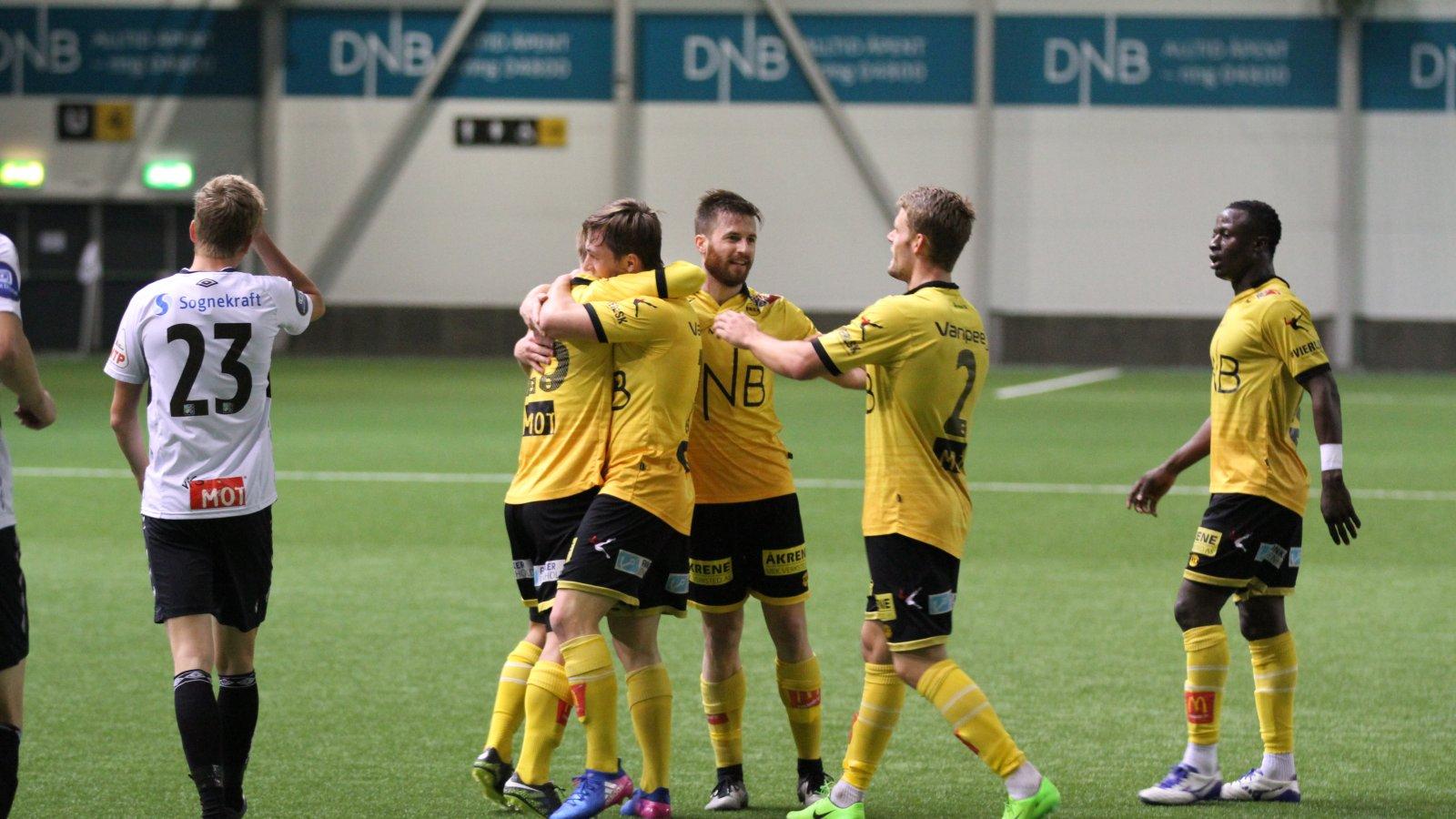 Jubel etter scoring mot Sogndal