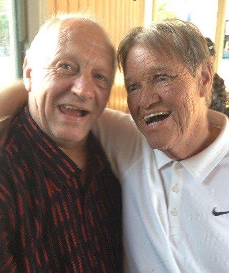 PÅ BESØK I 2012: For åtte år siden la Frank Tømmervåg ferien til Lillestrøm. Da møtte han blant annet avdøde Jan Halvorsen, bedre kjent som Tassen.