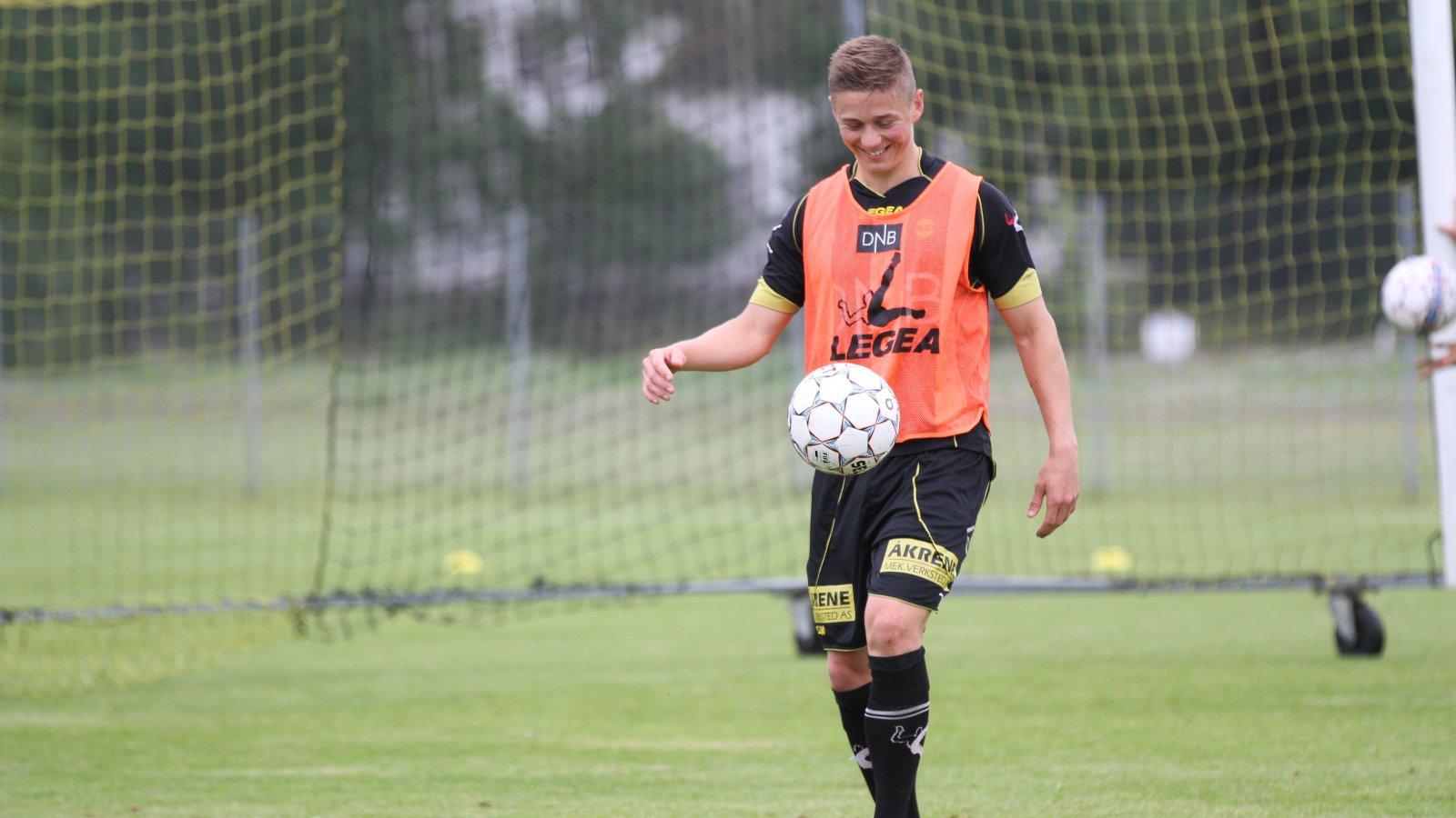 Fredrik Krogstad på trening